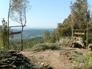 départ des sentiers d'enduro à la cime du Mont Arsenti