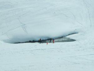 ski nautique (water slide) sur le lac du Lou