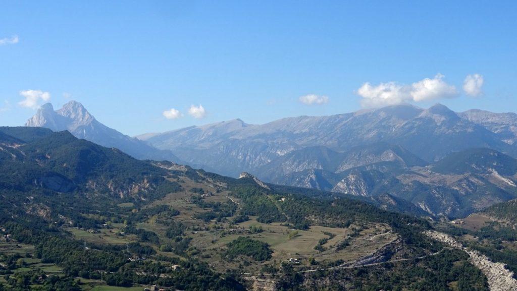 panorama sur Pedra Forca et Serra del Cadi